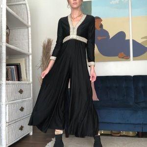 70's Black Jumpsuit